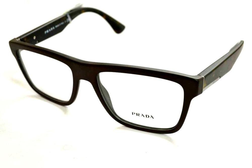 089426f2c67 PRADA Matte Brown Men s Eyeglasses VPR 07S TFD-101 56 mm Made In Italy 🇮🇹   PRADA