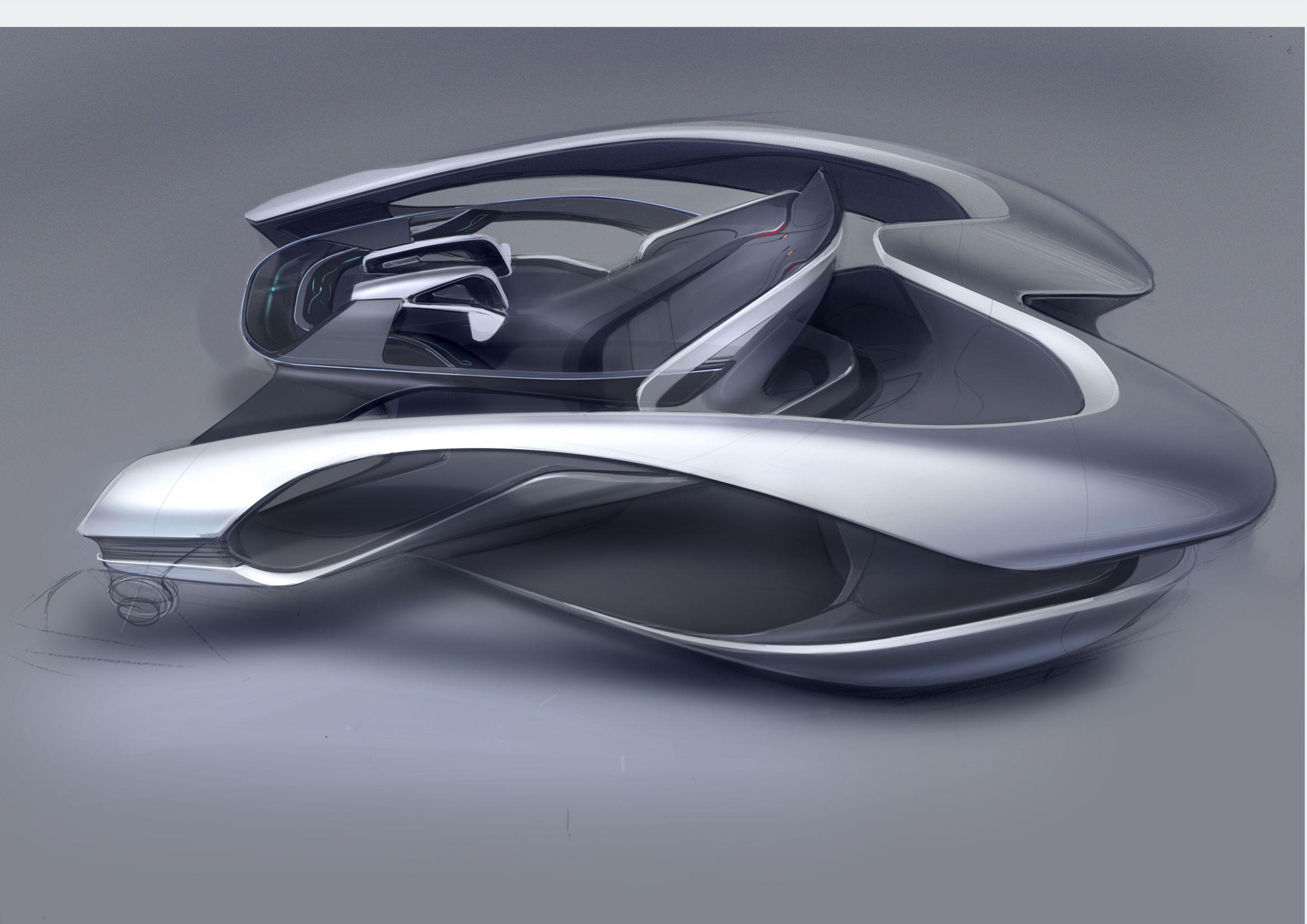 Car Automotive Interior Rendering Shading Industrial Design Sketch
