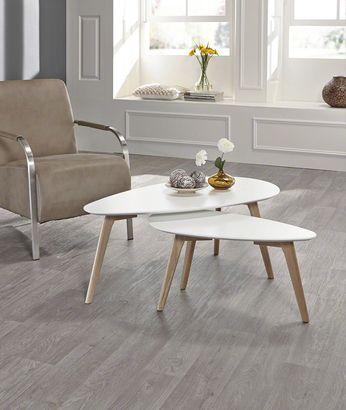 Table d\u0027appoint style scandinave blanc ou gris MAJA