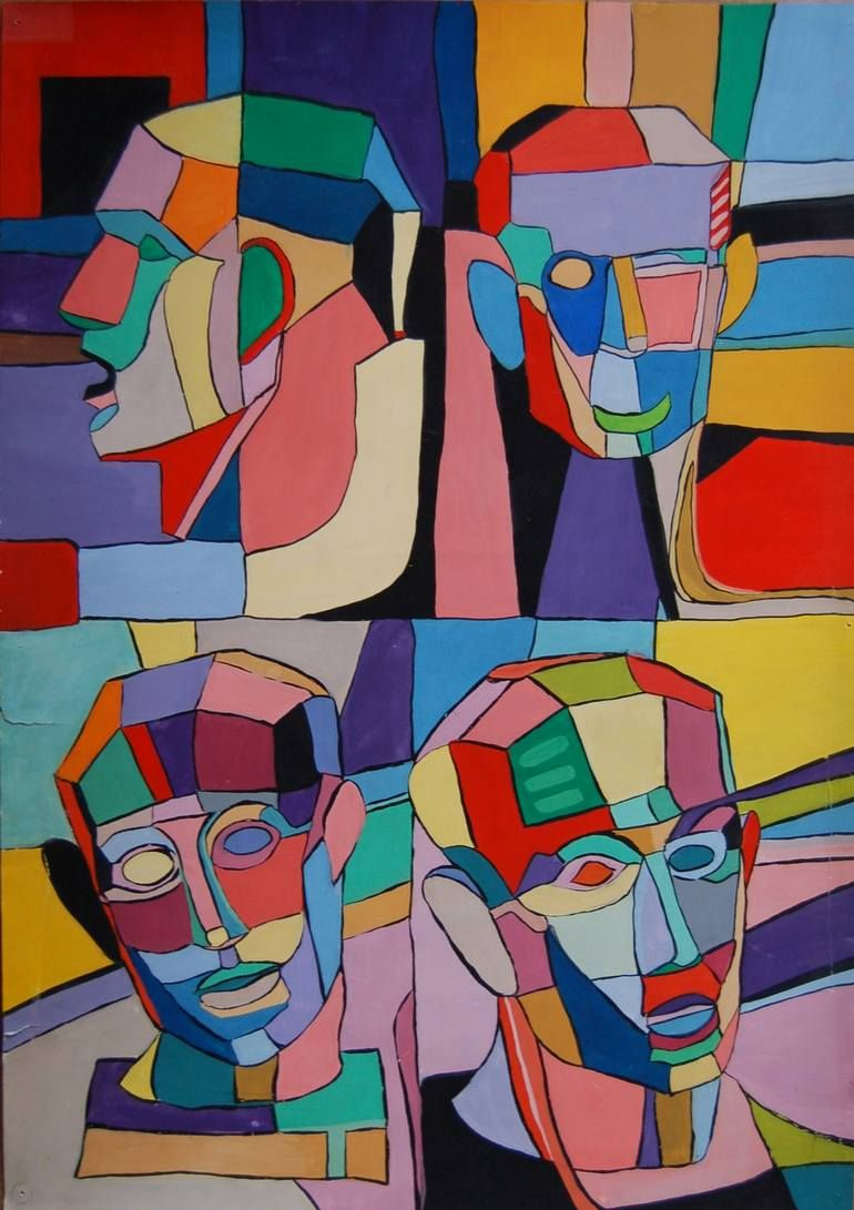 نقاشی کوبیسم کودکانه