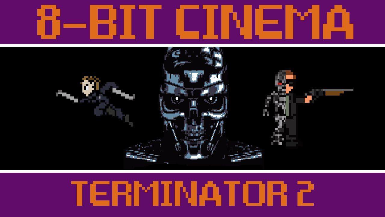 8 bit cinema terminator 2 terminator2 judgmentday 8bitcinema 8bit animation geek gaming videogames retro film movies terminator