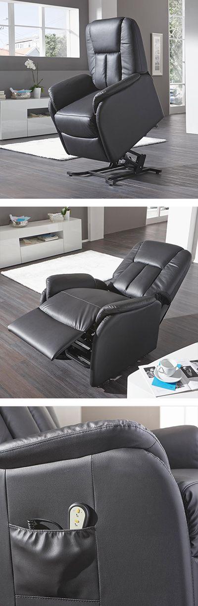 Fernsehsessel Schwarz Leder Verstellbar Fernsehsessel Sessel Schwarzes Leder