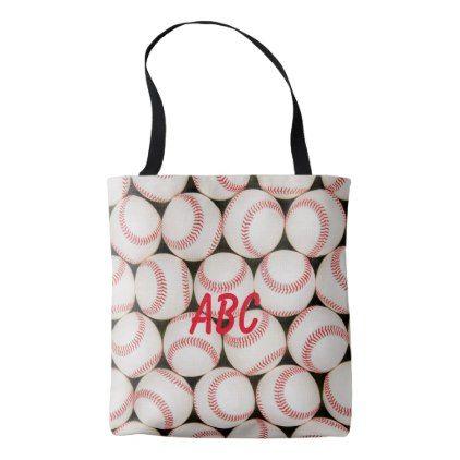 Baseballs Personalized Tote Bag Accessories Accessory Gift Idea Stylish Unique Custom Personalized Tote Bags Diy Tote Bag Custom Bags