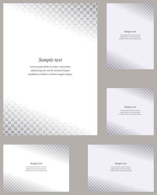 Page corner design template invitation - greeting - presentation - paper design template