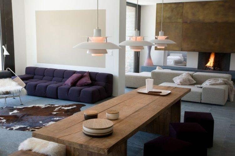 Moderne Wohnungseinrichtung Im Landhaus Stil   Das Wohnzimmer
