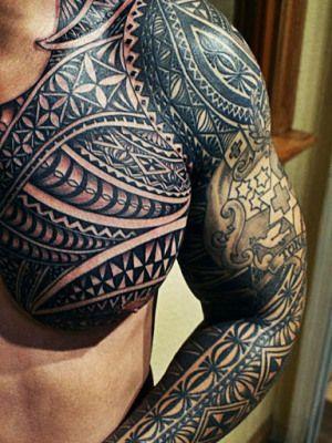 Tribal Tattoo Arm Shoulder Chest Tattoos Pinterest Tattoos