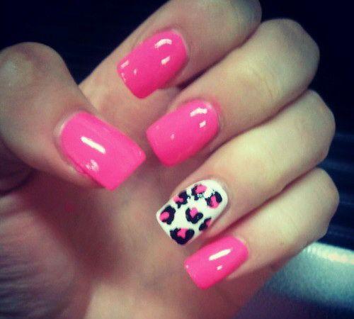 Cheetah Nail Designs pink-cheetah-nail-design  Nail ...