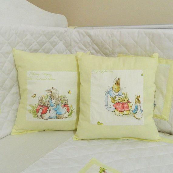 Plain Yellow Beatrix Potter Petter Rabbit Nursery Bedding
