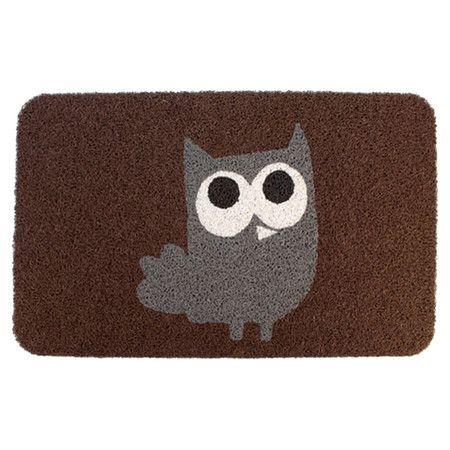 Found it at Wayfair - Owl Doormat in Brown
