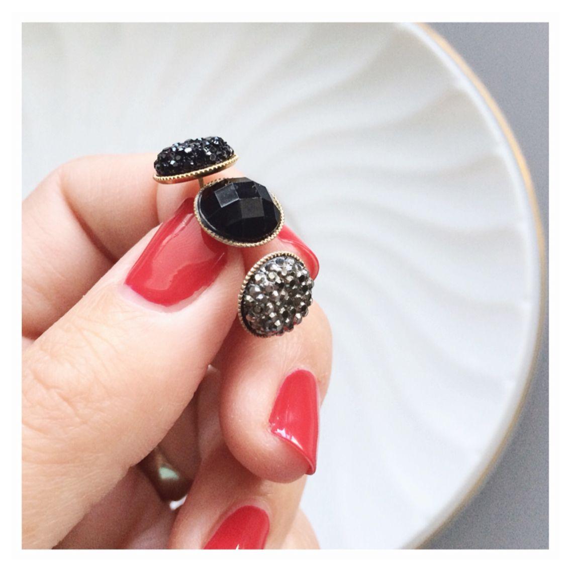 Sparkle glam earrings from Tom Design on Etsy www.tomdesign.etsy.com Druzy earrings #druze #druzy #earrings
