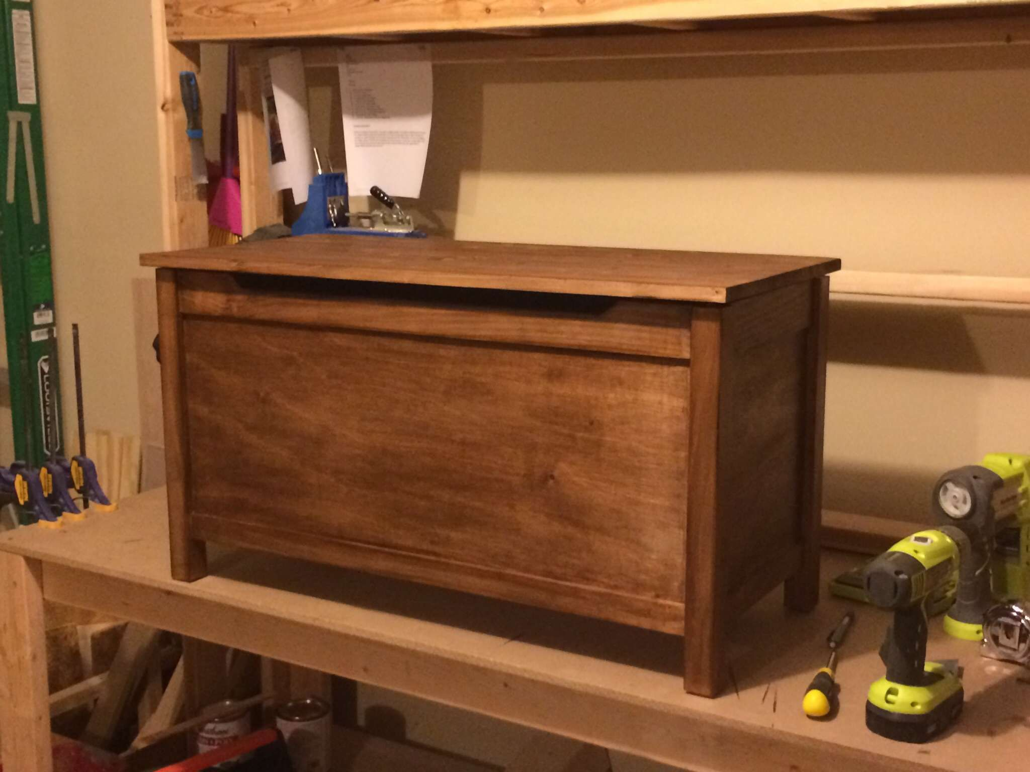 a wooden toy box with a lid   wood things to make   diy toy