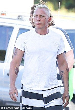 cb26fce697 Is that you Bond? Daniel Craig was unrecognisable from James Bond as he turned  into a bad guy himself while shooting scenes for Logan Run in Atlanta, ...