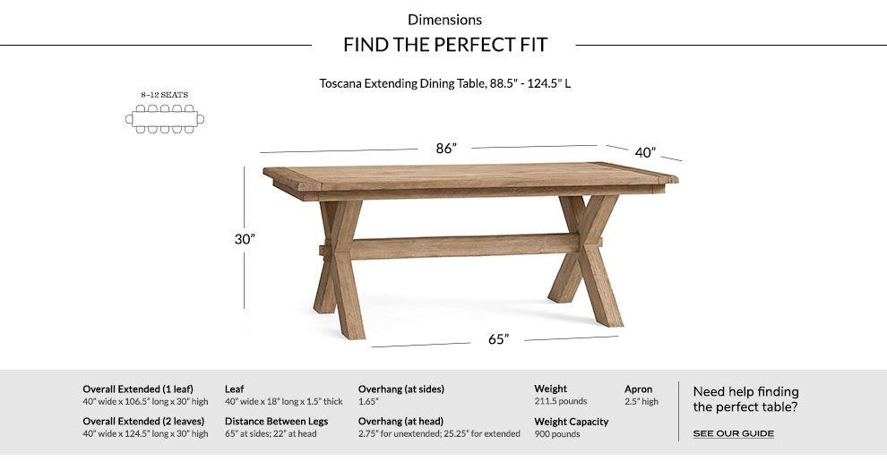 Dimensions Table Toscanaextended 88x40 Toscana Extending Dining Table Seadrift V2 Extendable Dining Table Dining Table Budget Friendly Living Room
