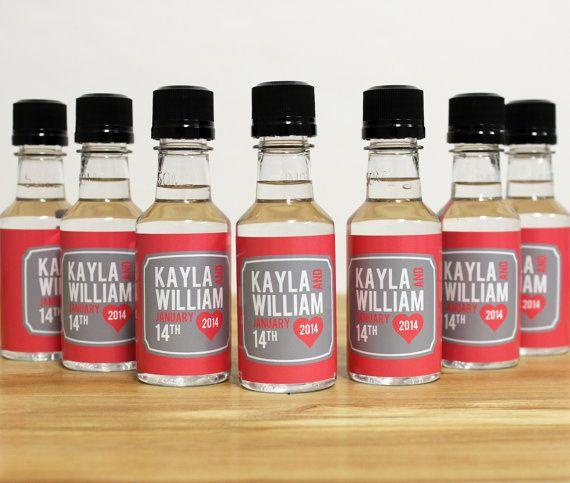 Custom Mini Bottle Liquor Labels and Empty 50 mL Bottles Alcohol ...