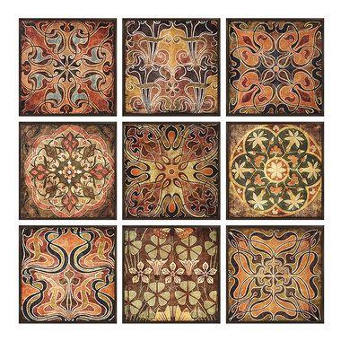 Decorative Wall Art Tiles Tuscan Wall Panels Set Of 9  Tuscan Wall Decor Walls And Wall Decor