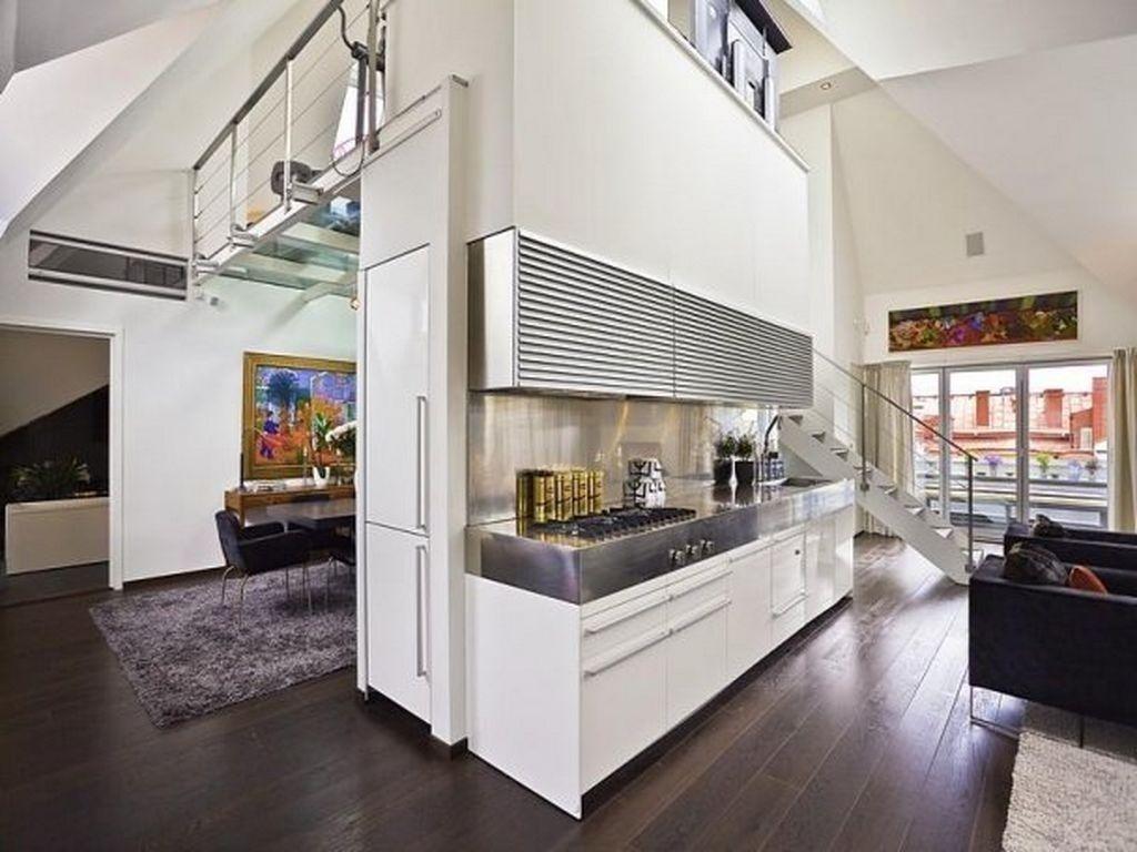 Bedroom Glamorous Deluxe Idea Loft Apartment Living Room Dining ...