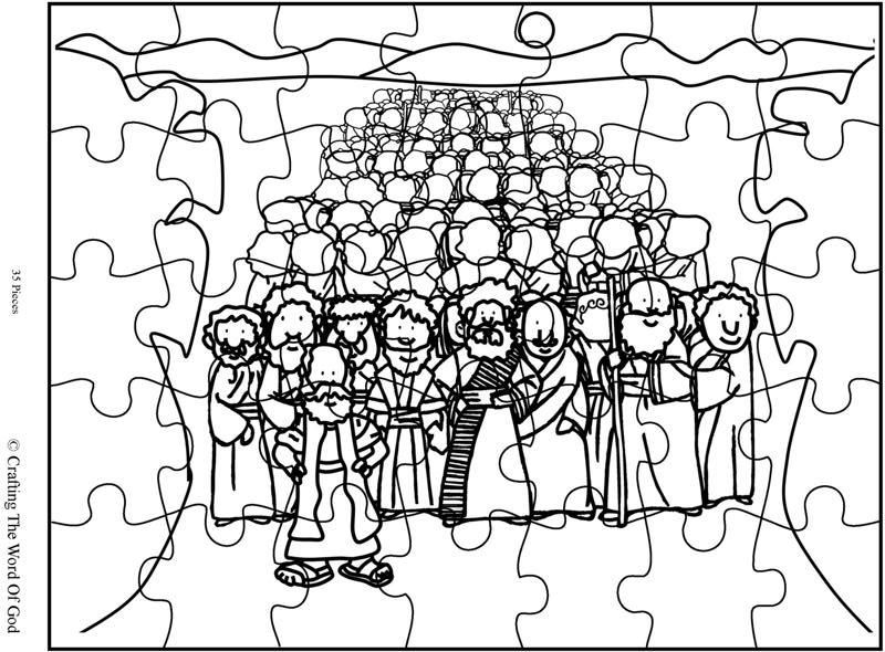 Crossing The Red Sea Puzzle (Activity Sheet) Activity
