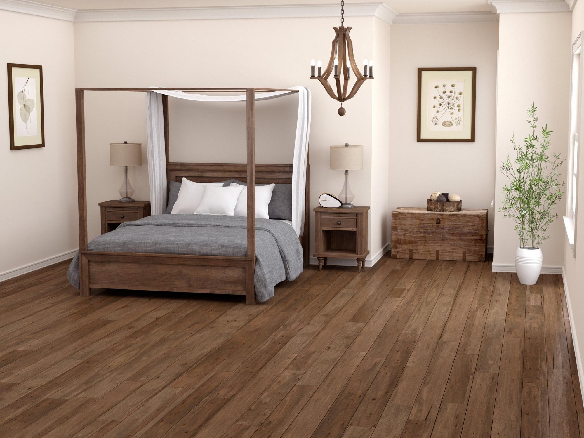 Driftwood lyptus hand scraped engineered hardwood floor