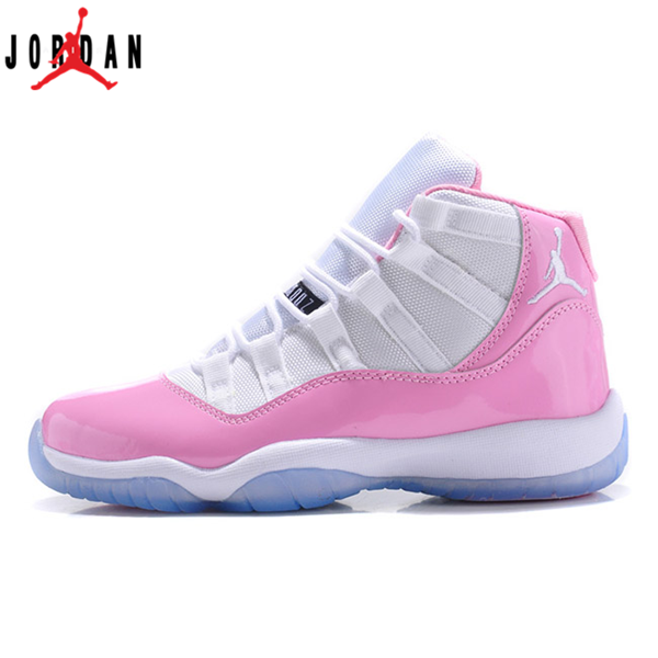 b99caac62449 Air Jordan 11 Retro Womens Shoes White-Pink