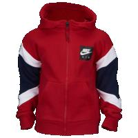 Nike Air Fleece Full Zip Hoodie Boys' Preschool Red