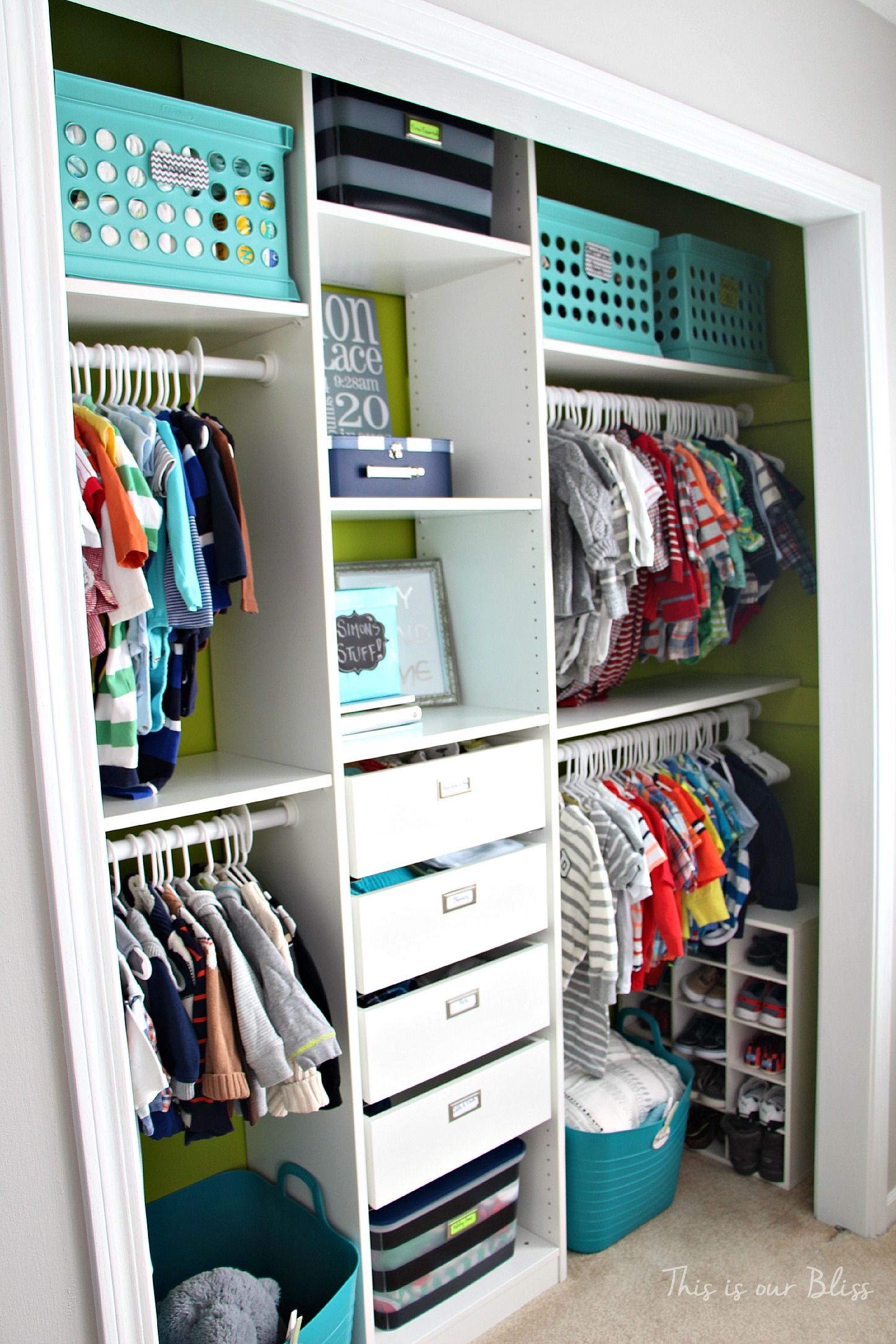 Nursery Closet Makeover Details Kids Room Baby Storage
