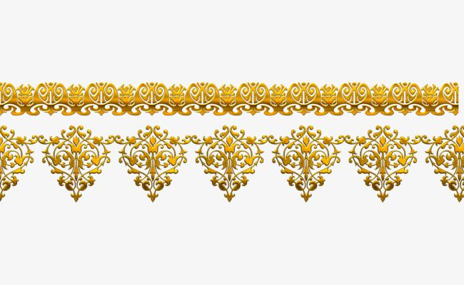 Vector Golden Flower Pattern Western Style Luxurious PNG And PSD