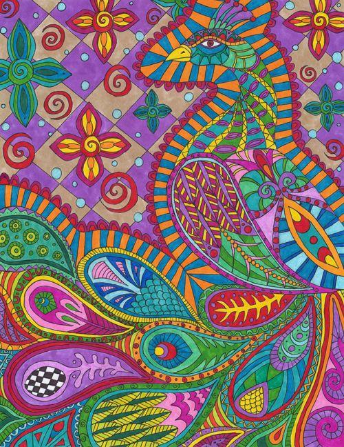 Paisley Peacock by Liquid-Mushroom on deviantART