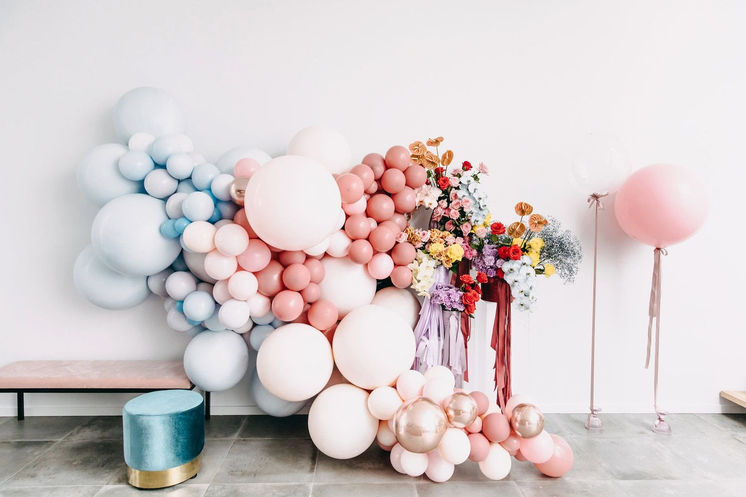 Party Planners Perth A Muted Pastel Bridal Shower Beautiful Party Balloons In 2019