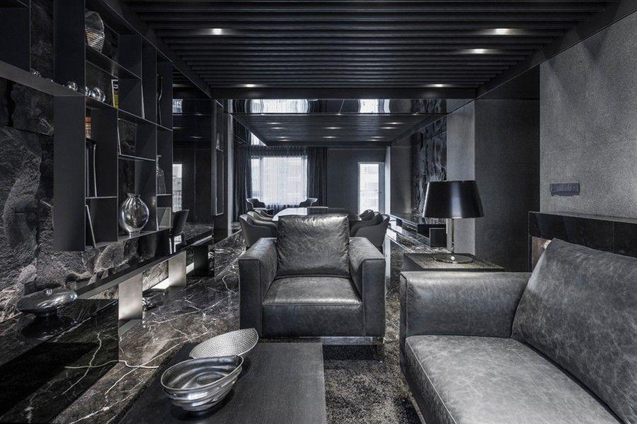 Interior Design Black unique interior scheme in taipei: exclusive interior architecture