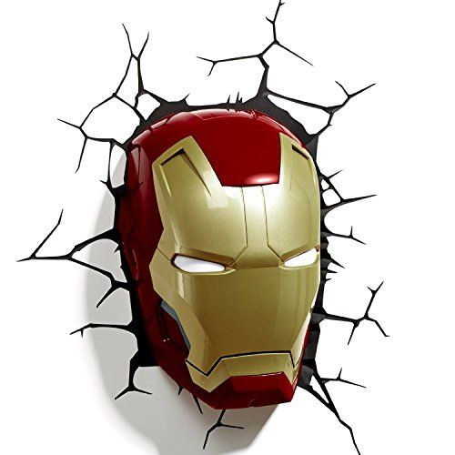 3d Light Fx Marvel Iron Man Mask 3d Deco Led Wall Light Discontinued By Manufacturer Learn More By Visiting The Image L Iron Man Mask 3d Deco Light Iron Man