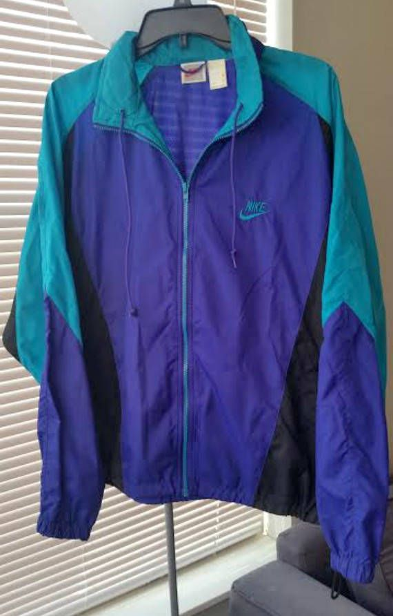90 s Vintage Nike Windbreaker Jacket Turquoise Purple Black Unisex (L)   90sWindbreaker  90sJacket  vintagenike  nike  windbreakers  etsy  vtg   90sfashion ... 2d8d3d4de