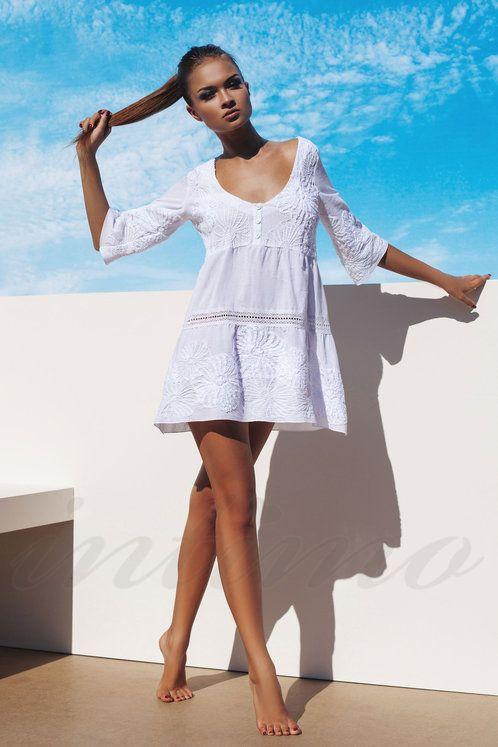 03738f09a5364 Пляжные платья и туники 2017 (114 фото): новинки, вязаное, сетка, длинное,  кружевное, парео, из шифона