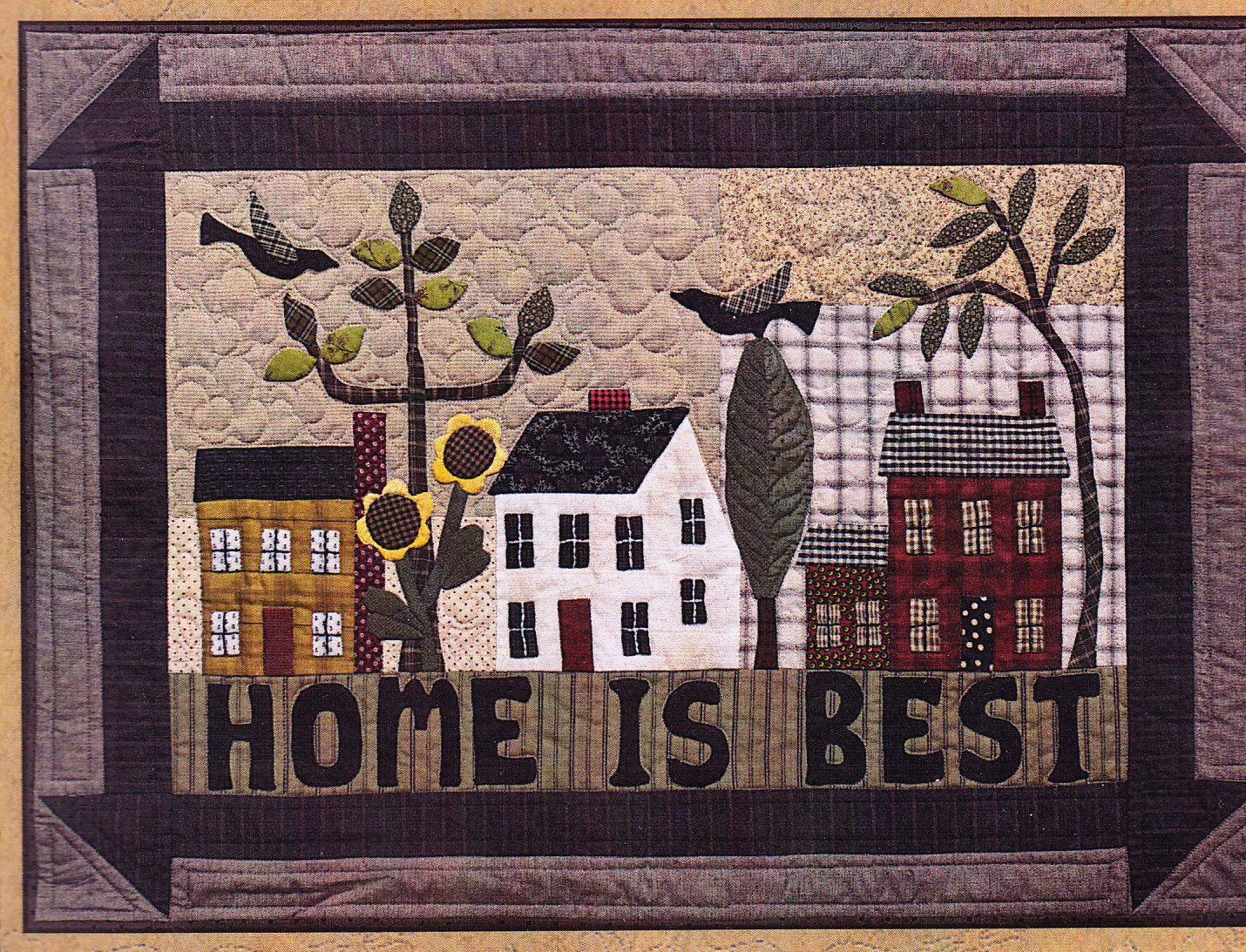 Details about home is best country style applique pieced wall