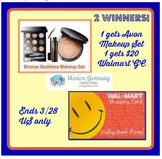 Enter this 3 day Flash Giveaway to win a 20 Walmart Gift