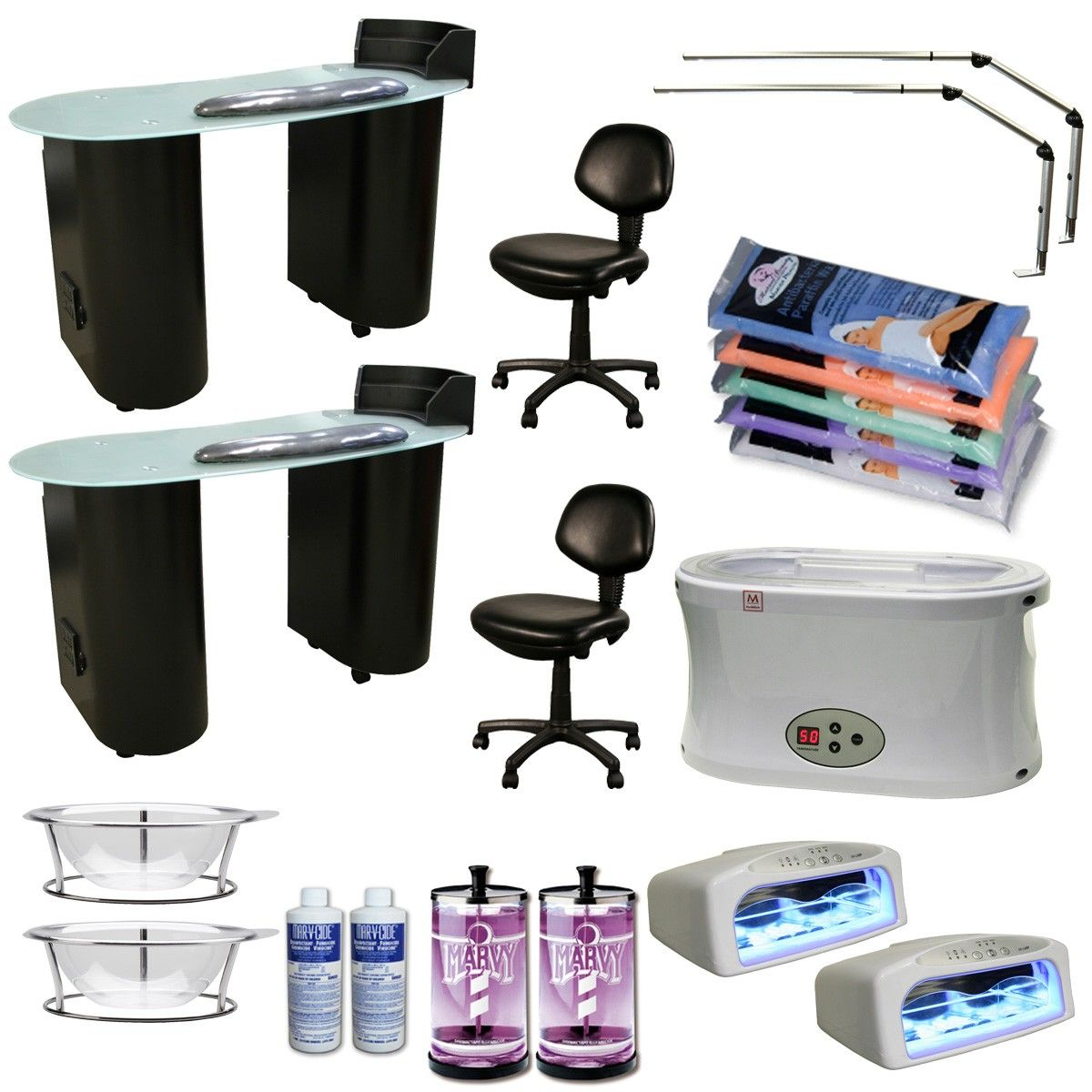 The+Lanier+2+Station+Manicure+Equipment+Package+includes
