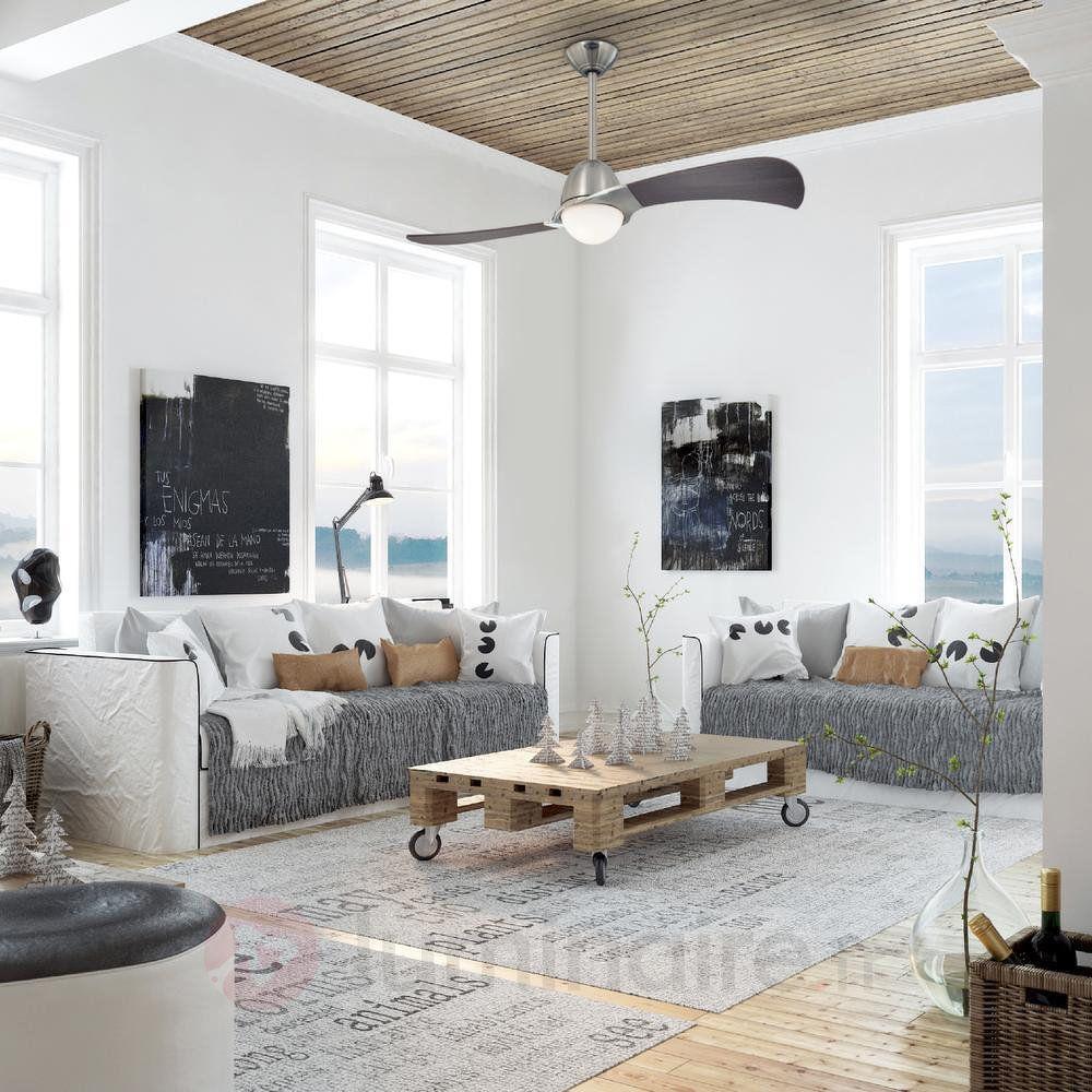 ventilateur avec lampe en verre opale solana ventilateurs pinterest d coration scandinave. Black Bedroom Furniture Sets. Home Design Ideas
