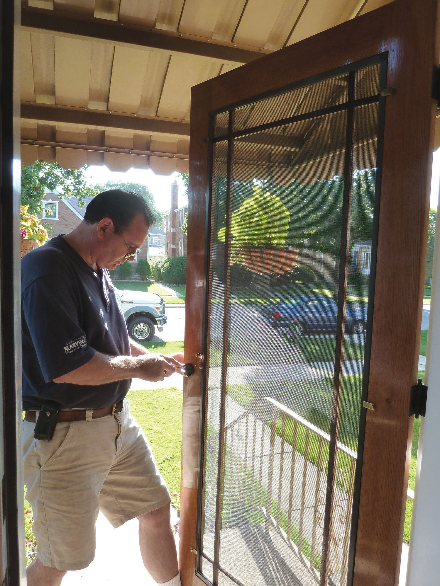 How to make a custom storm door out of rot-resistant wood such as ...