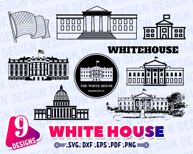 White House Svg White House Silhouette White House Outline Etsy House Silhouette House Outline House Clipart