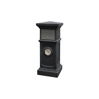 Northcote Pottery 36 X 90cm Charcoal Plymouth Pillar Letterbox In 2020 Letter Box Pillars Pottery