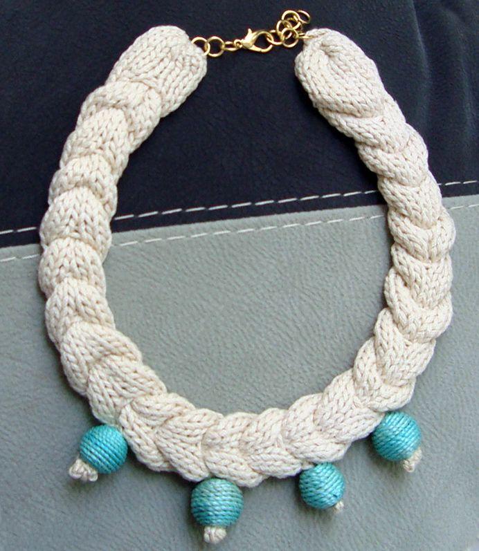 Ivory knit necklace