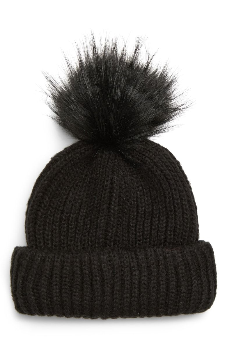 57bbe28e1d0 Free shipping and returns on Topshop Faux Fur Pompom Beanie at Nordstrom.com.  Keep