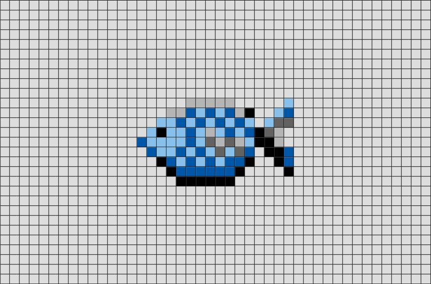 Fish Pixel Art Pixel Art Pattern Pixel Art Cross Stitch Owl