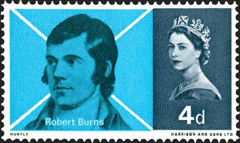 Royal mail special stamps robert burns commemoration