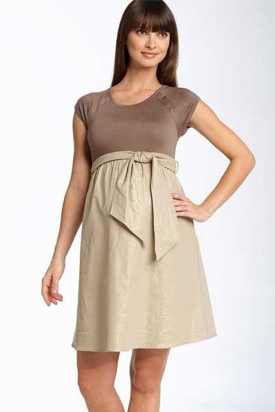 Modelos de vestidos cortos maternos