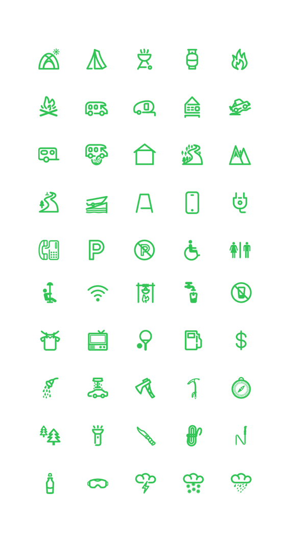 outdoor icons set by chirag dave  via behance