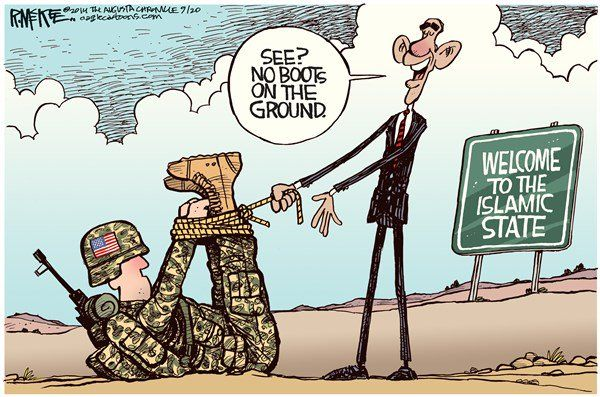 Obama no boots on the ground