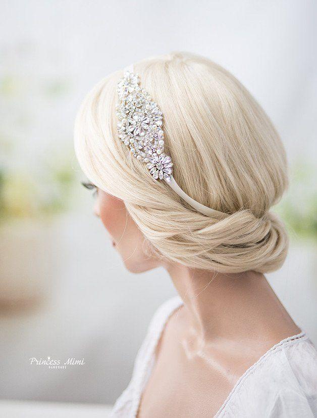 Haarreifen Haarschmuck mit Steinen Haarband Neu Steinen