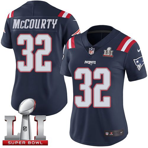 69b56f70a Nike Patriots  32 Devin McCourty Navy Blue Super Bowl LI 51 Women s Stitched  NFL Limited