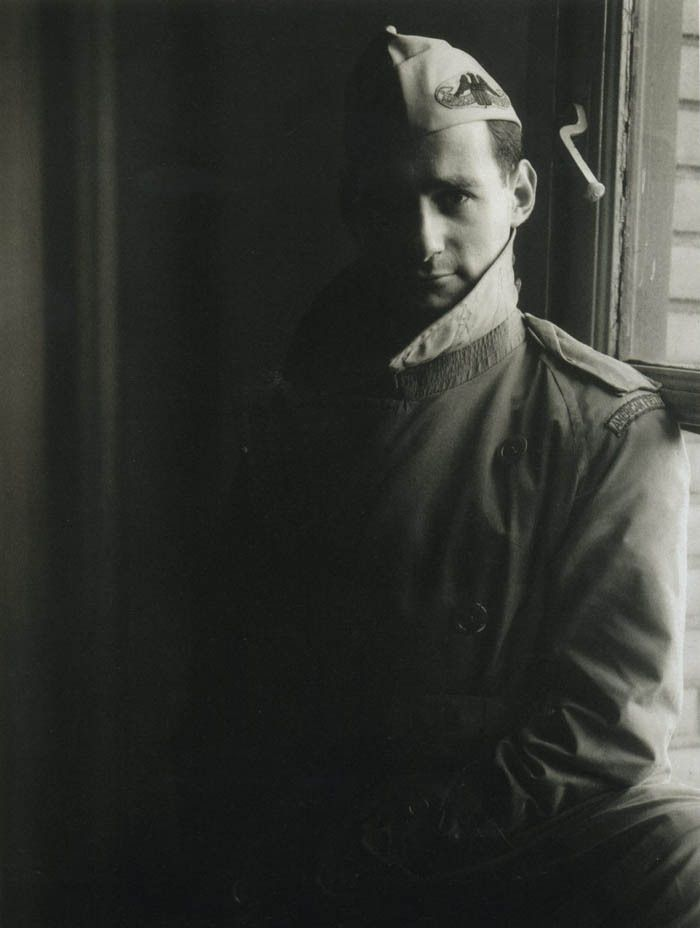Photographer Irving Penn in his American Field Service uniform.John Rawlings - #american #art #Irving #penn #soldiers