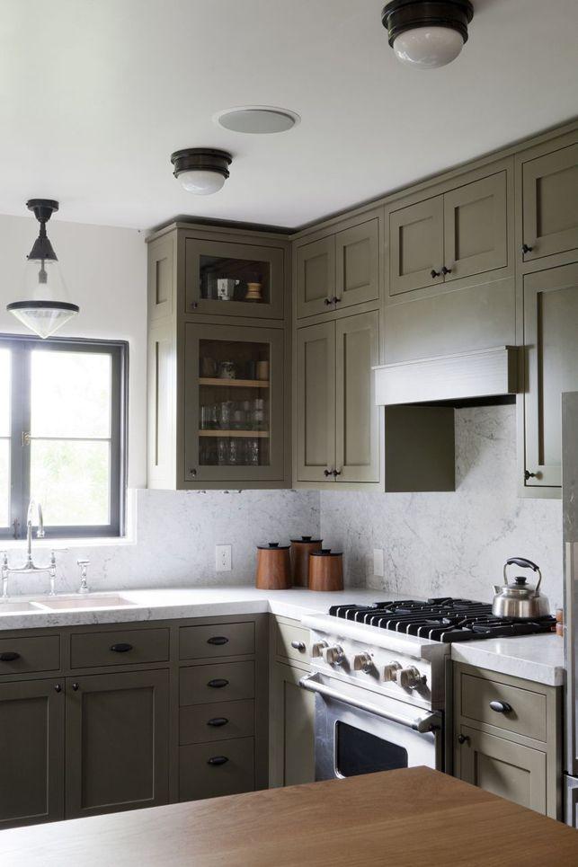 Leger Groene Keukenkastjes Keuken Ontwerp Olijfkleurige Keuken